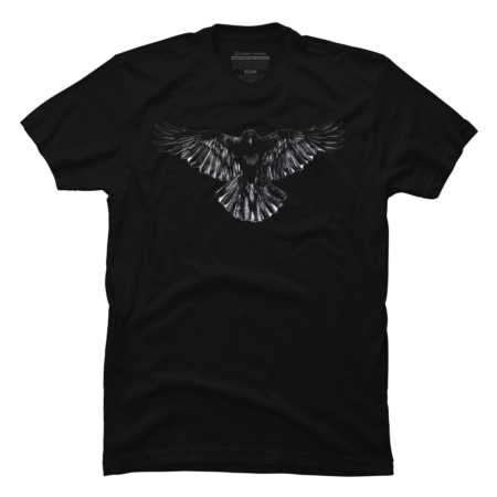 Beautiful Illustrated Crow Raven Artistic t shirt