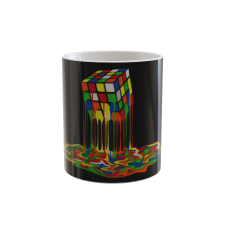 Rainbow Abstraction melted rubix cube