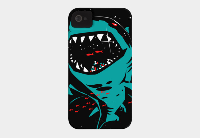 Shark with pixelated teeth! Phone Case - Design By Humans