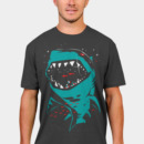 Television wearing Shark with pixelated teeth! by gloopz