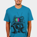 Snowy wearing Retro TV Colour Test Man by LukeBatten