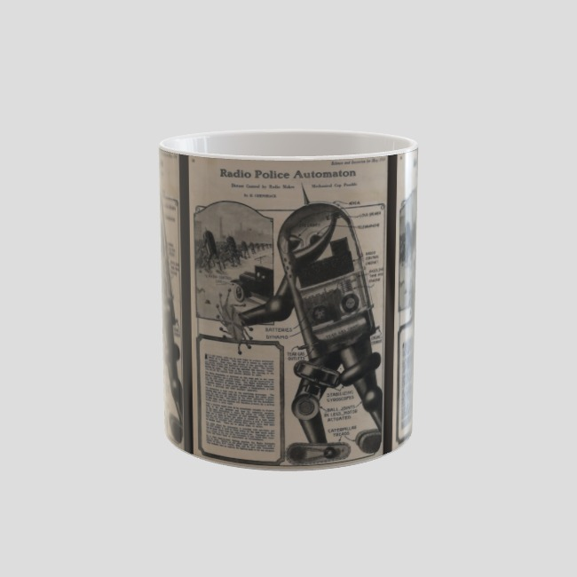 78d260d63d53 Robot Cop Mug By TimPangburn Design By Humans