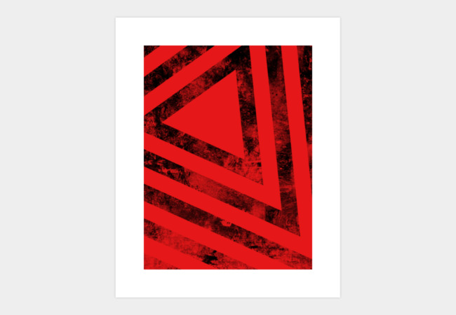 Angular Distress Art Print - Design By Humans